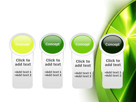 Abstract Green Sparkles PowerPoint Template Slide 5