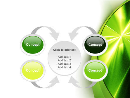 Abstract Green Sparkles PowerPoint Template Slide 6
