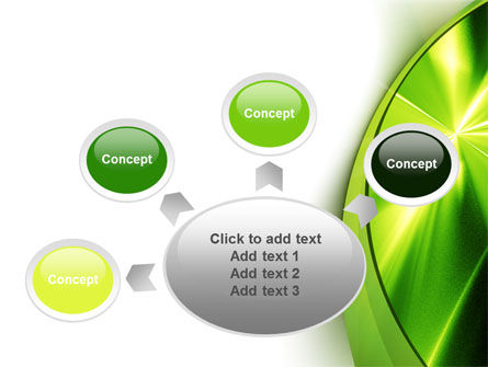 Abstract Green Sparkles PowerPoint Template Slide 7