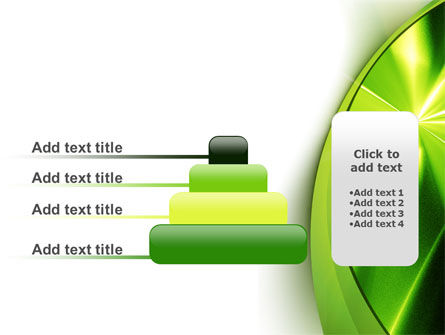 Abstract Green Sparkles PowerPoint Template Slide 8