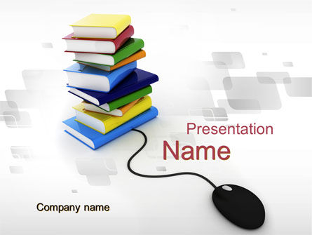 Education & Training: E-Education PowerPoint Template #10083