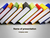 Education & Training: Paper Books PowerPoint Template #10084