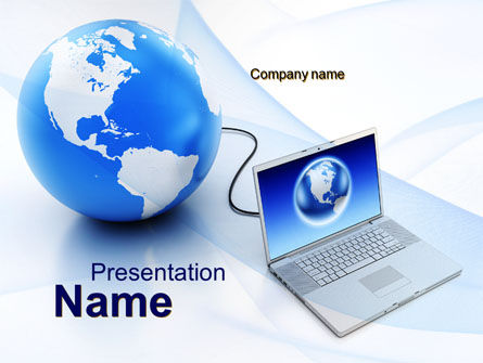 Computers: Connect To The Global Knowledge PowerPoint Template #10085