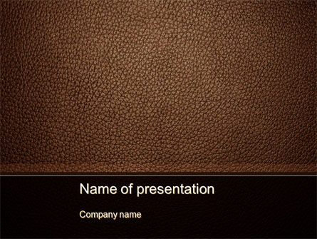 Abstract/Textures: Embossed Leather Cover PowerPoint Template #10086