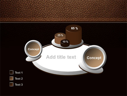 Embossed Leather Cover PowerPoint Template Slide 16