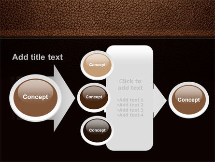 Embossed Leather Cover PowerPoint Template Slide 17