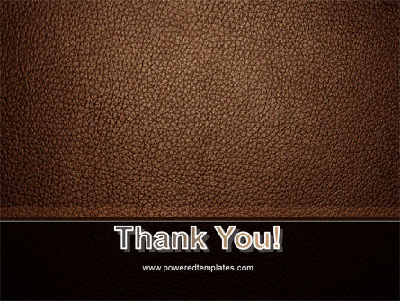 Embossed Leather Cover PowerPoint Template Slide 20
