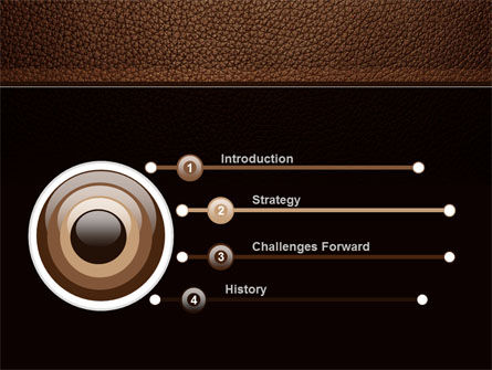 Embossed Leather Cover PowerPoint Template Slide 3