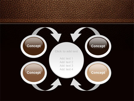Embossed Leather Cover PowerPoint Template Slide 6