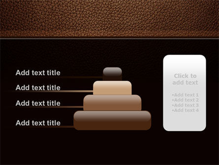 Embossed Leather Cover PowerPoint Template Slide 8