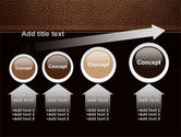 Embossed Leather Cover PowerPoint Template#13
