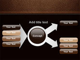 Embossed Leather Cover PowerPoint Template#14
