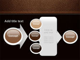 Embossed Leather Cover PowerPoint Template#17