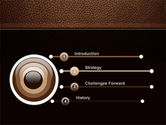 Embossed Leather Cover PowerPoint Template#3