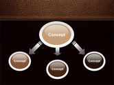 Embossed Leather Cover PowerPoint Template#4