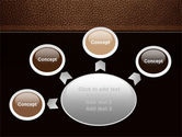 Embossed Leather Cover PowerPoint Template#7