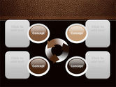 Embossed Leather Cover PowerPoint Template#9