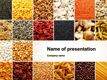 Convenience Foods PowerPoint Template, 10087, Agriculture — PoweredTemplate.com
