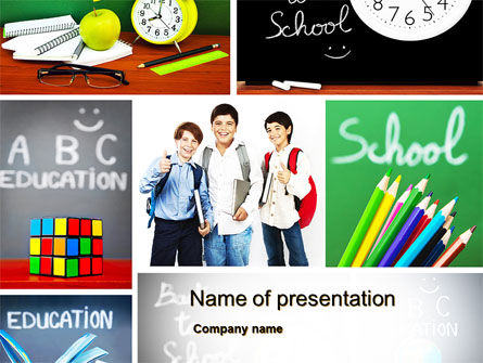 School Friends Back to School PowerPoint Template