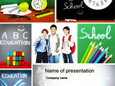 Education & Training: School Friends Back to School PowerPoint Template #10089