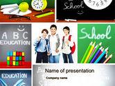 Education & Training: School Friends Back to School PowerPoint Template #10089