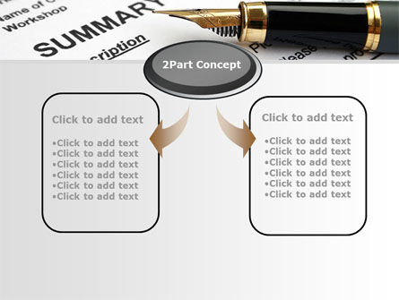 Summary of Claim PowerPoint Template, Slide 4, 10090, Legal — PoweredTemplate.com