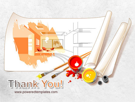 Interior Design Sketch PowerPoint Template Slide 20