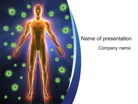 Medical: Human Immune System PowerPoint Template #10098