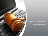 Legal: Cyber Law PowerPoint Template #10100