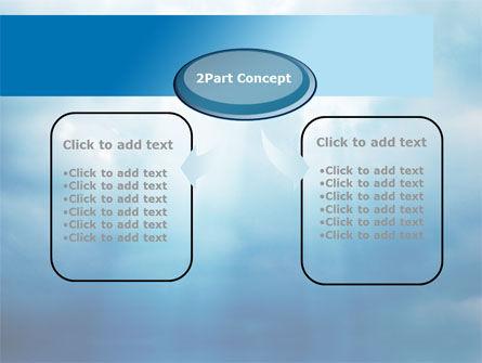 Beams Through Clouds PowerPoint Template, Slide 4, 10102, Nature & Environment — PoweredTemplate.com
