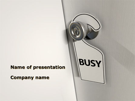 Busy PowerPoint Template, 10103, Careers/Industry — PoweredTemplate.com