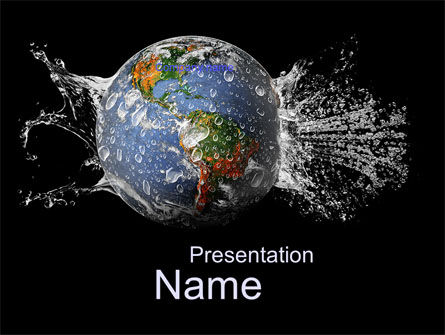 Earth Splash PowerPoint Template, 10104, Global — PoweredTemplate.com