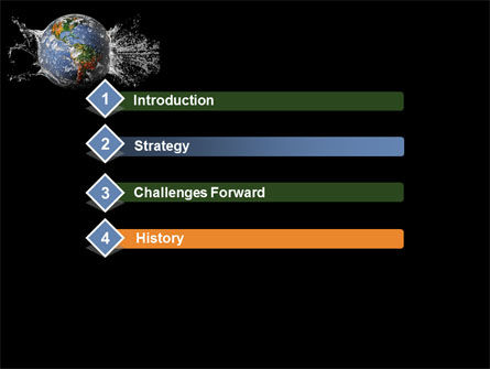 Earth Splash PowerPoint Template, Slide 3, 10104, Global — PoweredTemplate.com