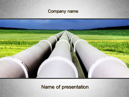 Utilities/Industrial: Pipes Perspective PowerPoint Template #10107