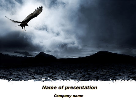 Nature & Environment: Attacking Eagle PowerPoint Template #10109