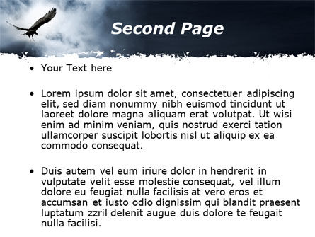 Attacking Eagle PowerPoint Template, Slide 2, 10109, Nature & Environment — PoweredTemplate.com