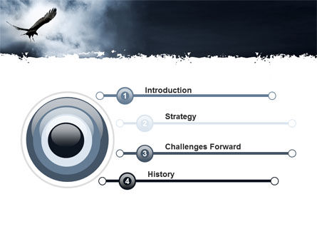 Attacking Eagle PowerPoint Template, Slide 3, 10109, Nature & Environment — PoweredTemplate.com