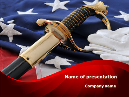 Military: Valor PowerPoint Template #10113