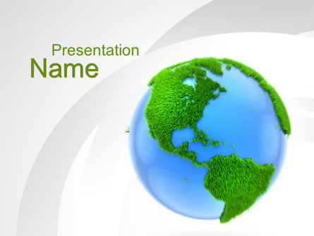 Global: World in Forest PowerPoint Template #10115