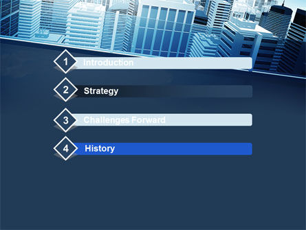 Business District PowerPoint Template, Slide 3, 10118, Construction — PoweredTemplate.com