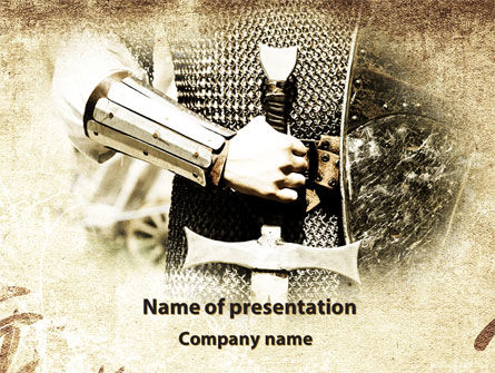 Knight Sword PowerPoint Template