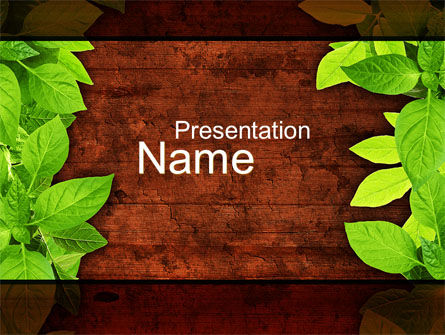 Wooden Surface PowerPoint Template, 10121, Abstract/Textures — PoweredTemplate.com