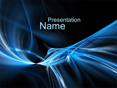 Blue Curves PowerPoint Template, 10122, Abstract/Textures — PoweredTemplate.com