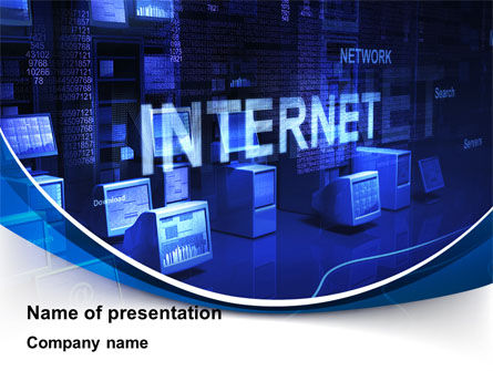 Internet Network PowerPoint Template, 10126, Technology and Science — PoweredTemplate.com