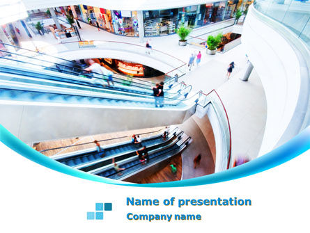 Shopping Mall PowerPoint Template, 10128, Careers/Industry — PoweredTemplate.com