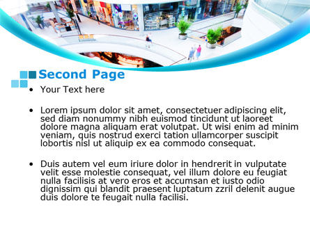Shopping Mall PowerPoint Template, Slide 2, 10128, Careers/Industry — PoweredTemplate.com