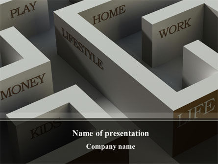 Maze of Life PowerPoint Template, 10129, Consulting — PoweredTemplate.com