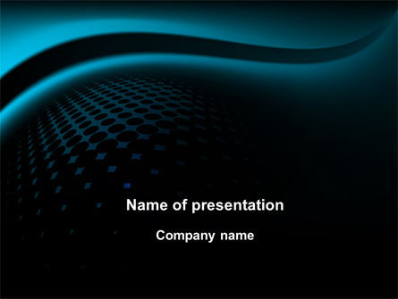 Abstract/Textures: Turquoise Stripe PowerPoint Template #10130