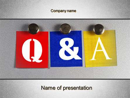 Education & Training: Questions and Answers PowerPoint Template #10131