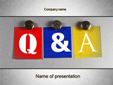 Questions and Answers PowerPoint Template#1